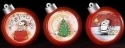 Peanuts by Roman 134753 Peanuts Set of 3 Ornament LED Mini Domes
