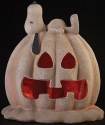 Peanuts by Roman 160116 Solar Powered Snoopy on Jack-O-Lantern - DS