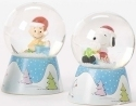 Peanuts by Roman 36542 Snoopy and Charlie Dome Set of 2
