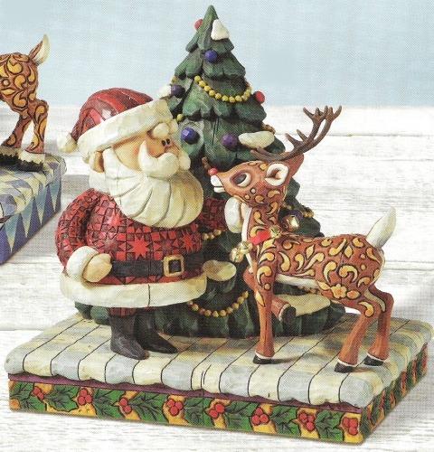 Jim Shore Rudolph Reindeer 4008338 Rudolph and Santa Figurine