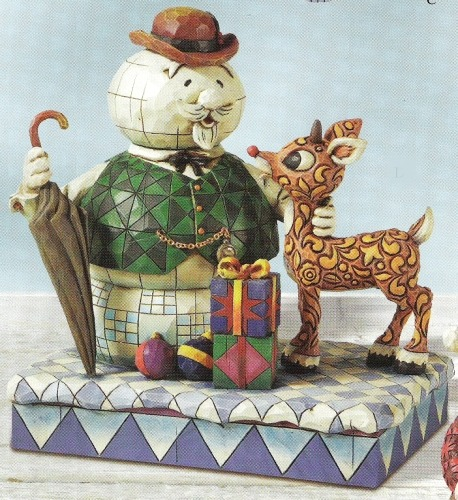 Jim Shore Rudolph Reindeer 4008339 Rudolph & Sam Snowman Figurine