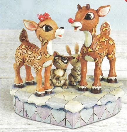 Jim Shore Rudolph Reindeer 4009800 Rudolph and Clarice Figurine
