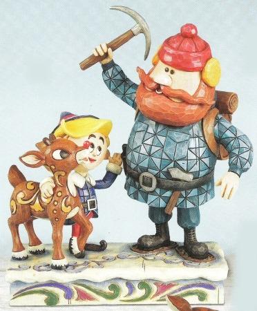 Jim Shore Rudolph Reindeer 4009801 Rudolph and Yukon and Hermey Figurine