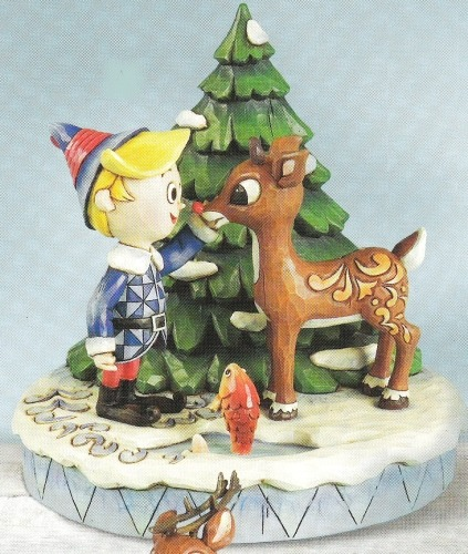 Jim Shore Rudolph Reindeer 4009802 Rudolph and Hermey Figurine