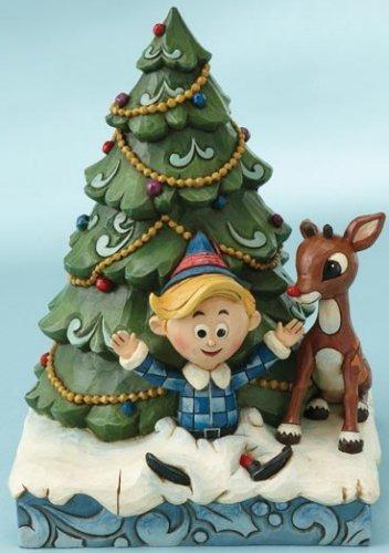 Jim Shore Rudolph Reindeer 4013873 Rudolph & Hermey Figurine