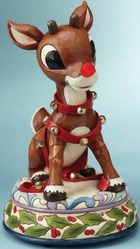 Jim Shore Rudolph Reindeer 4013875 Rudolph Lighted Figurine