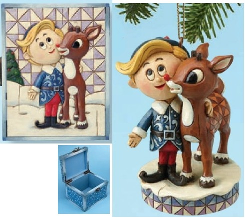 Jim Shore Rudolph Reindeer 4013876 Rudolph & Hermey 2 pc set