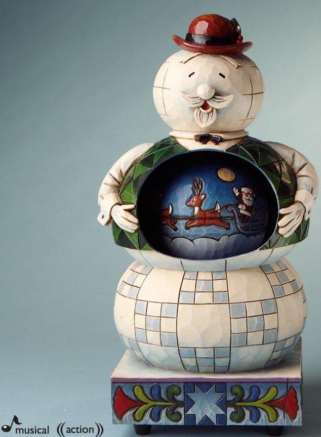 Jim Shore Rudolph Reindeer 4017293 Sam the Snowman Figurine
