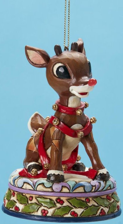 Jim Shore Rudolph Reindeer 4017296 Rudolph with Light Up Ornament