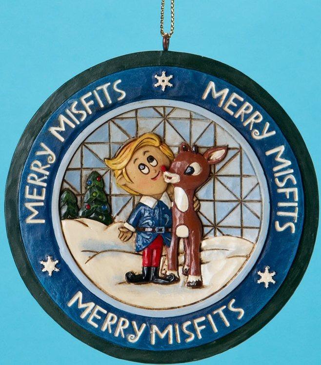 Jim Shore Rudolph Reindeer 4019208 Rudolph Hermey Disk Ornament