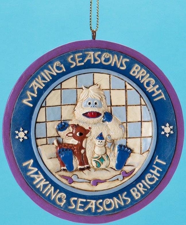 Jim Shore Rudolph Reindeer 4019209 Rudolph Bumble Disk Ornament