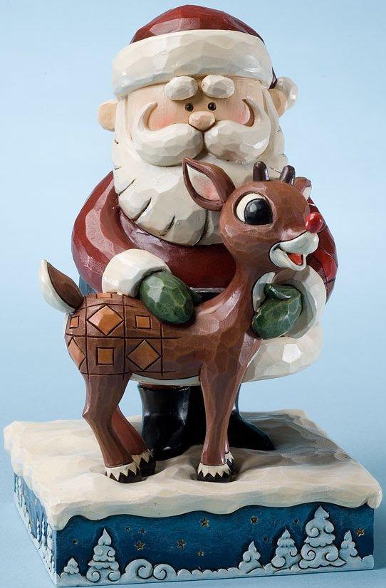 Jim Shore Rudolph Reindeer 4023443 Santa Hugging Rudolp Figurine