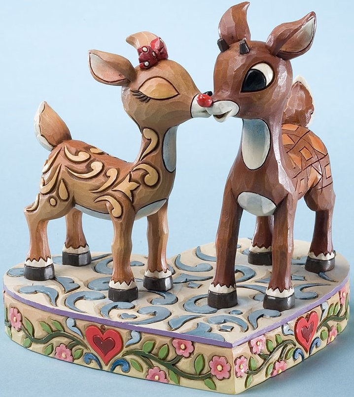 Jim Shore Rudolph Reindeer 4023444 Rudolph and Clarice Figurine