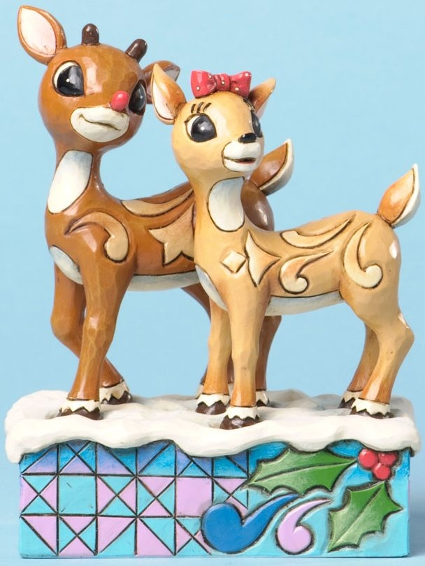 Jim Shore Rudolph Reindeer 4034894 Rudolph and Clarice