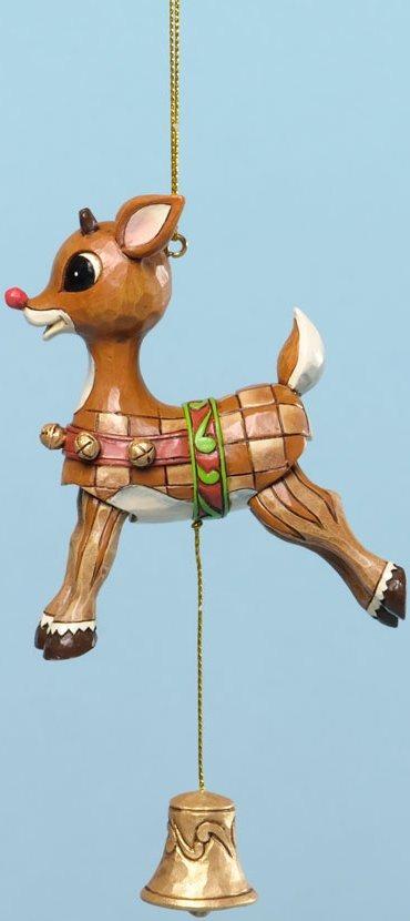 Jim Shore Rudolph Reindeer 4034902 Rudolph Pull String Ornament