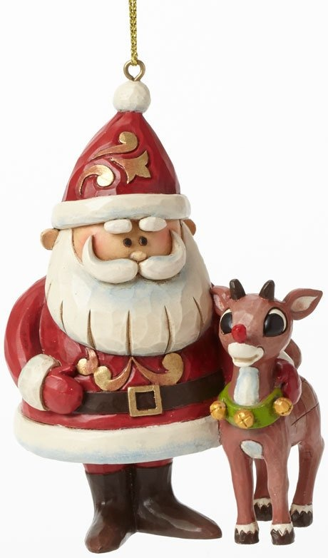Jim Shore Rudolph Reindeer 4041650 Santa and Rudolph 50th