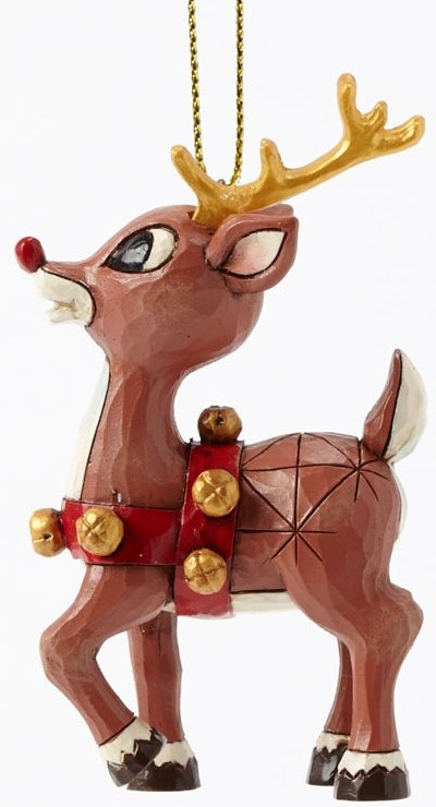 Jim Shore Rudolph Reindeer 4041651 Rudolph & Gold Accents