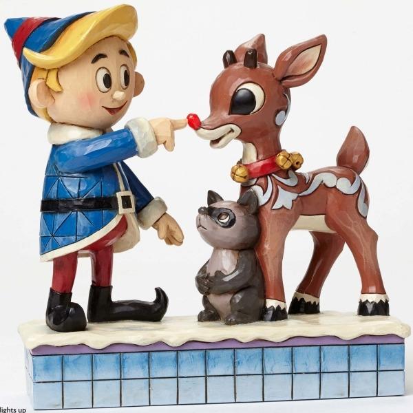 Jim Shore Rudolph Reindeer 4047939 Hermey and Rudolph Lig