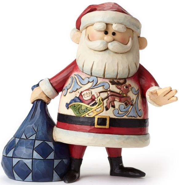 Jim Shore Rudolph Reindeer 4047942 Santa w Sleigh & Ru