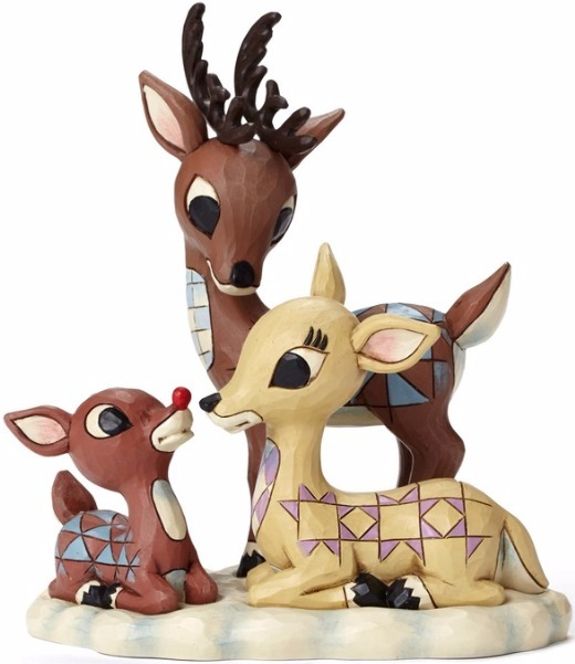 Jim Shore Rudolph Reindeer 4053071 Rudolph w Mom & Dad