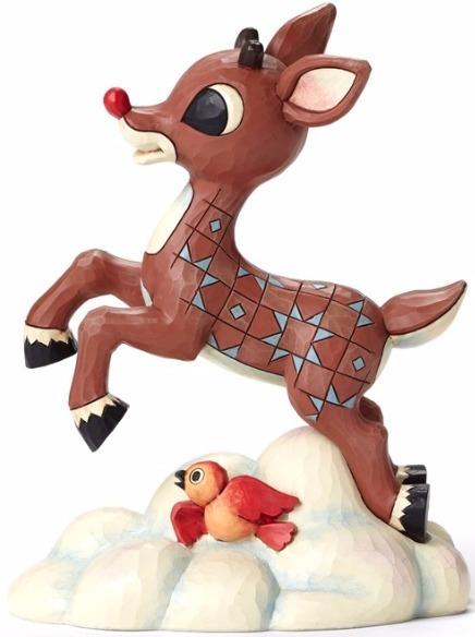 Jim Shore Rudolph Reindeer 4053074 Flying Rudolph