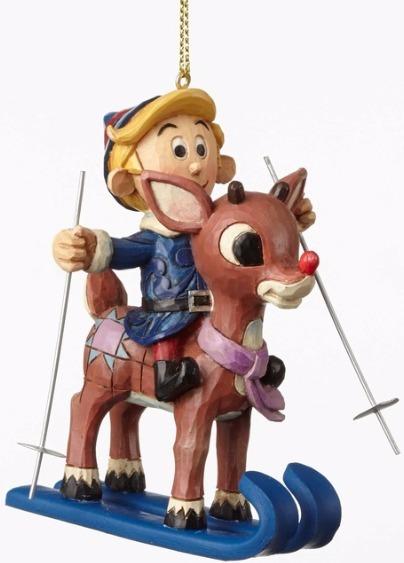 Jim Shore Rudolph Reindeer 4053076 Rudolph and Hermey Ski