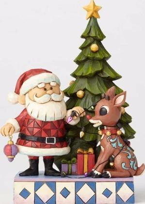 Jim Shore Rudolph Reindeer 4058338 Santa & Rudolph by Tree