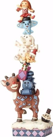 Jim Shore Rudolph Reindeer 4058346 Rudolph and Stacked Misfits