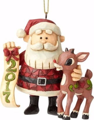 Jim Shore Rudolph Reindeer 4058348 Santa and Rudolph Dated 2017