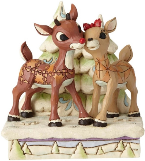 Jim Shore Rudolph Reindeer 6001588 Rudolph and Clarice