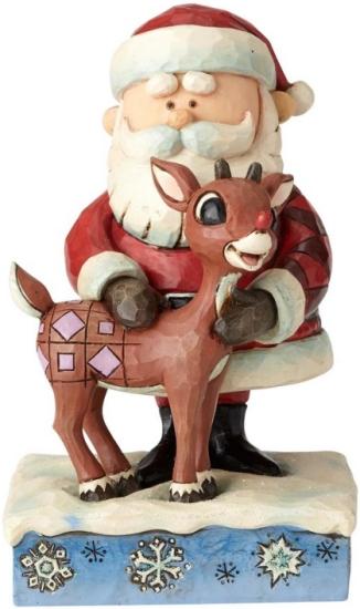 Jim Shore Rudolph Reindeer 6001590 Santa Hugging Rudolp