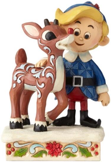 Jim Shore Rudolph Reindeer 6001594 Hermey and Rudolph
