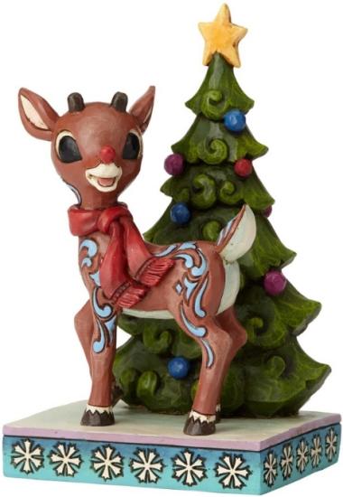 Jim Shore Rudolph Reindeer 6001595 Rudolph Standing by