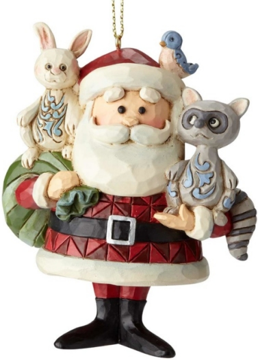 Jim Shore Rudolph Reindeer 6001598 Santa With Woodland A