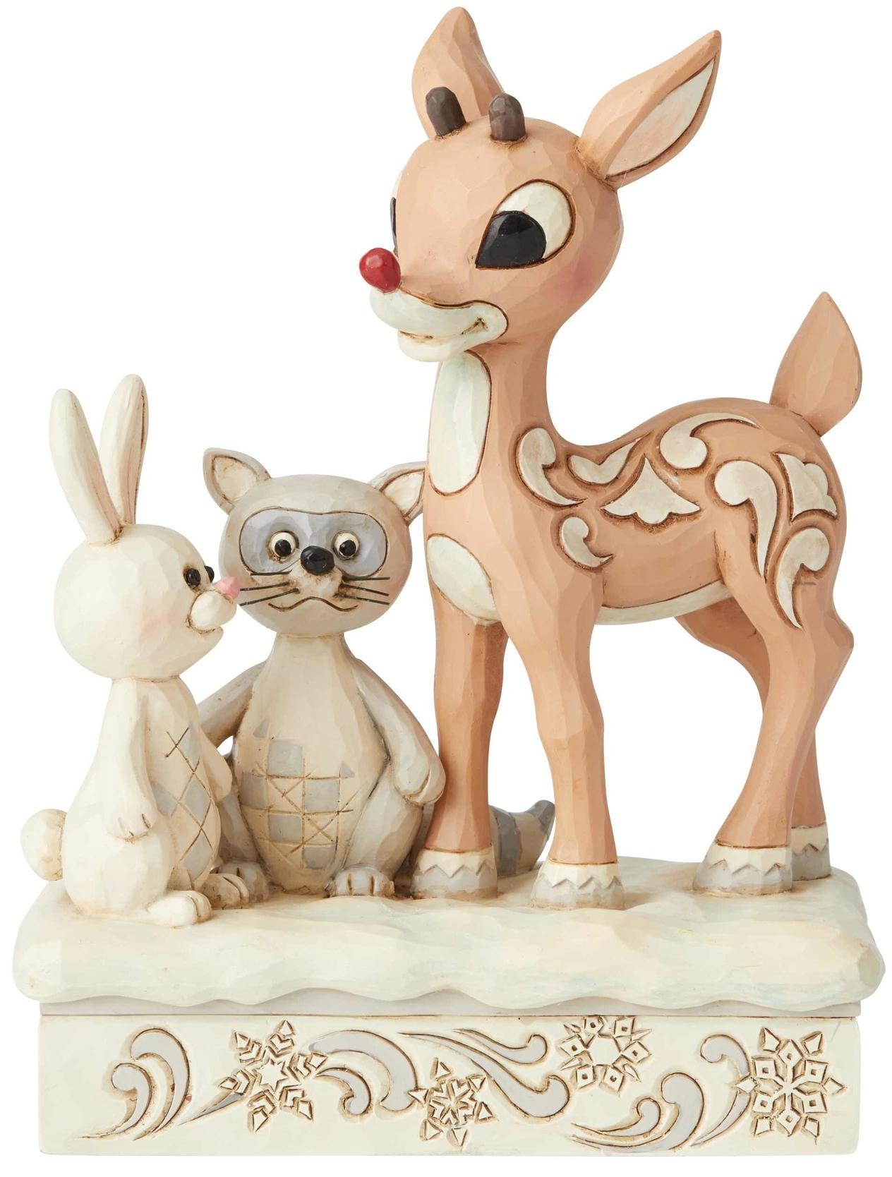 Jim Shore Rudolph Reindeer 6004147 Woodland Rudolph
