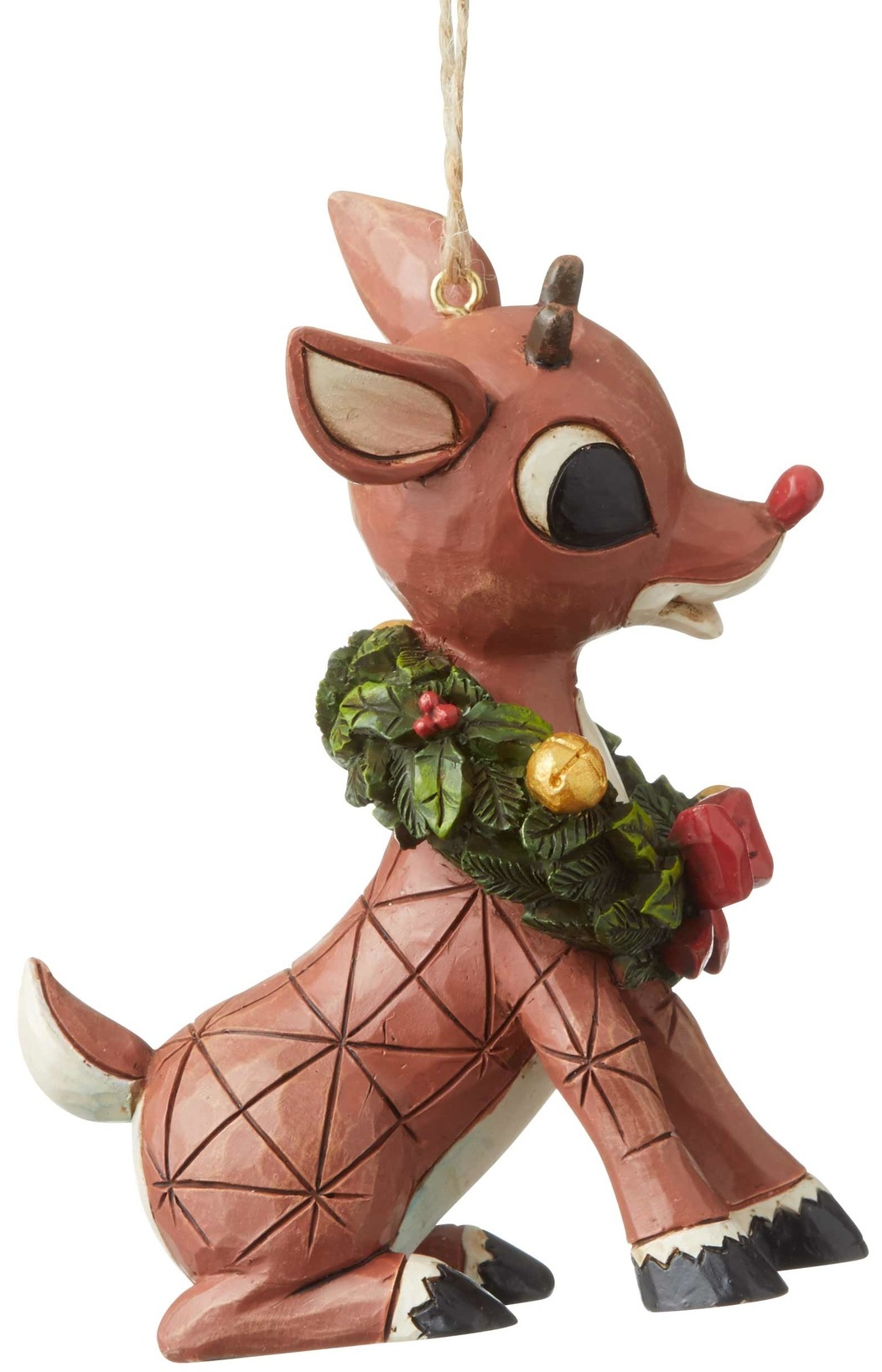 Jim Shore Rudolph Reindeer 6004151 Rudolph With Wreath