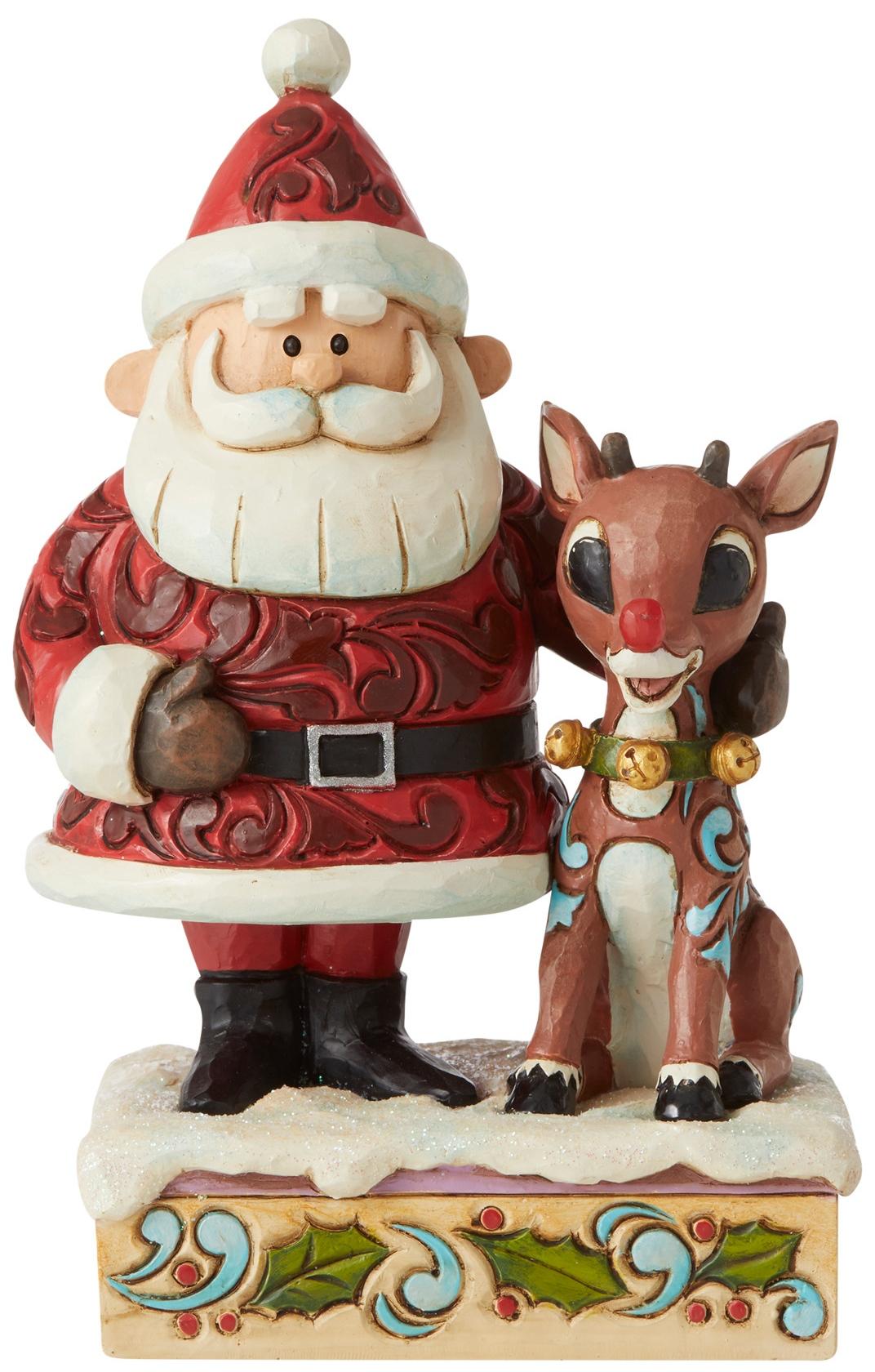 Jim Shore Rudolph Reindeer 6006788N Santa Hugging Rudolph Figurine