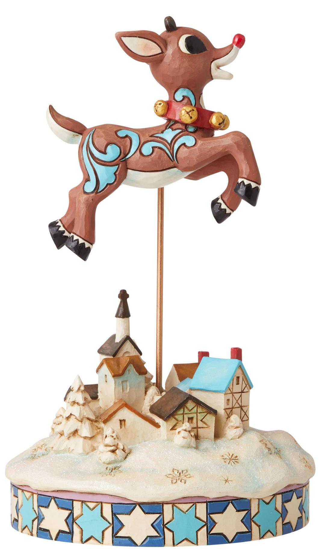 Jim Shore Rudolph Reindeer 6006792 Leaping Rudolph Figurine