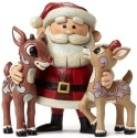 Jim Shore Rudolph Reindeer 4047940 Santa Rudolph and Cla