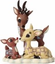 Jim Shore Rudolph Reindeer 4053071 Rudolph w Mom and Dad