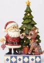 Jim Shore Rudolph Reindeer 4058338 Santa and Rudolph by Tree