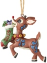 Jim Shore Rudolph Reindeer 6004148 Rudolph Holding Stocking