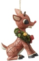 Rudolph Traditions by Jim Shore 6004151 Rudolph With Wreath