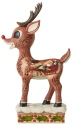 Jim Shore Rudolph Reindeer 6006789 Rudolph With Sleigh Figurine
