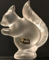 Estate Items Squirrel Cristal de Sevres Squirrel Frosted Crystal