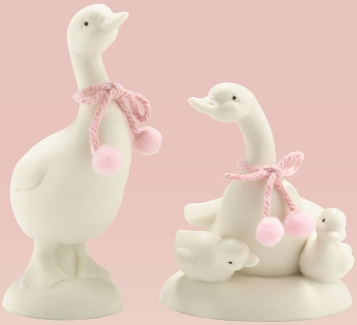Snowbunnies 4025695 Set of 2 Assorted Geese Figurine