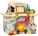 Tails with Heart 4057650 Fireplace - Lighted Fireplace