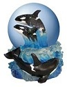 Special Sale 14794 Wildlife 14794 Breaching Whale Couple Water Globe