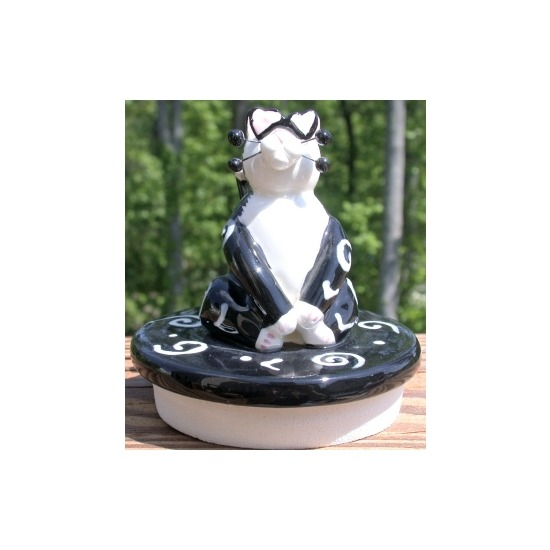 Special Sale 20103 WhimsiClay 20103 Love Struck Cat Candle Topper