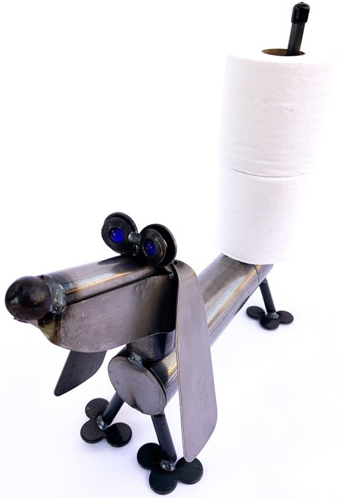Junkyard Dogs & Cats D901 Dachshund Holding Toilet Paper Dog